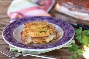 Lasagna di patate croccanti