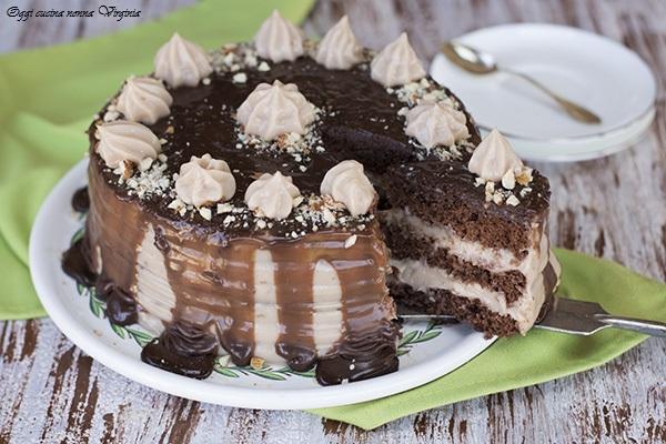 torta alla crema di nocciole
