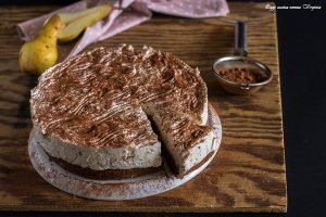 Cheesecake cioccolato e pere video ricetta