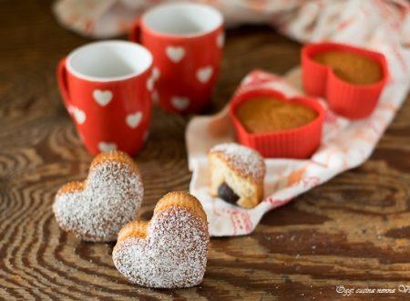 Muffin cuore di amarena