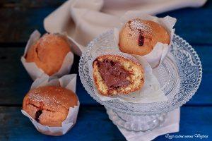 Muffin morbidissimi con un cuore alla nutella