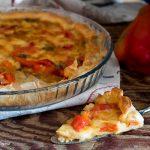 Torta salata con peperoni e provola videoricetta