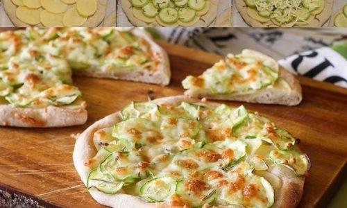 Pizza patate e zucchine