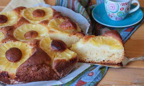 Torta con ananas senza burro