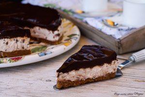 Cheesecake a freddo cioccolato e vaniglia