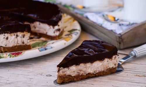 Cheesecake a freddo cioccolato e vaniglia video ricetta
