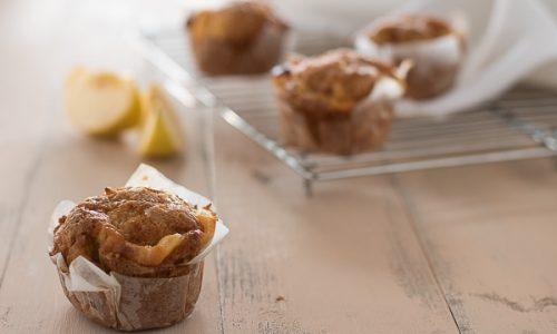 Muffin mele e crema