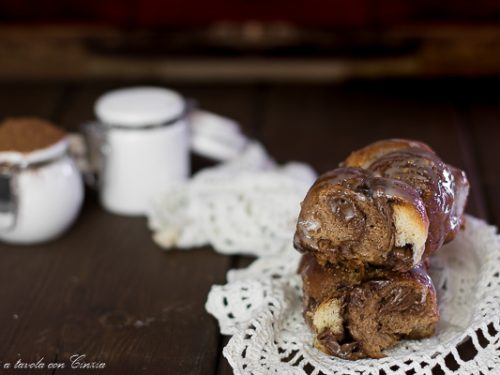 Treccia dolce di brioche cioccolato e vaniglia