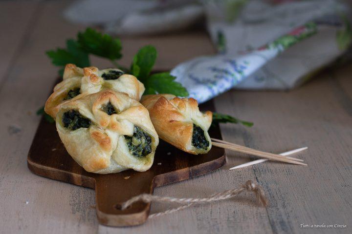 Sfogliette spinaci e besciamella