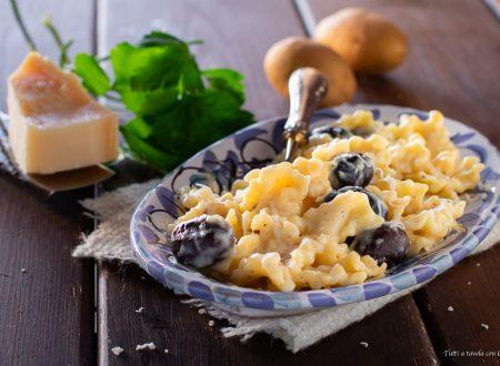 Pasta crema di patate ed olive
