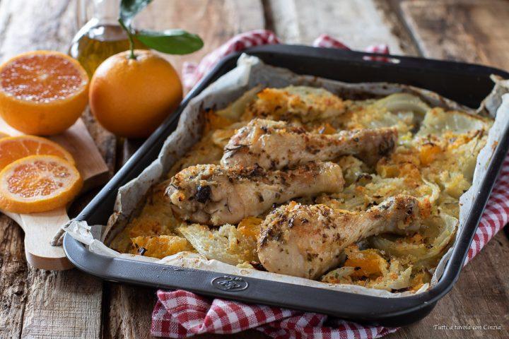 pollo gratinato al forno arance