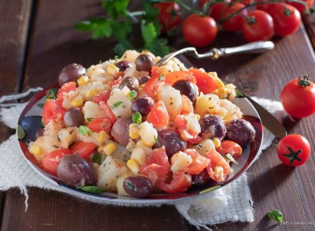 Insalata patate e pomodorini fredda