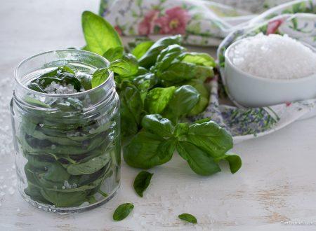Come conservare il basilico sotto sale