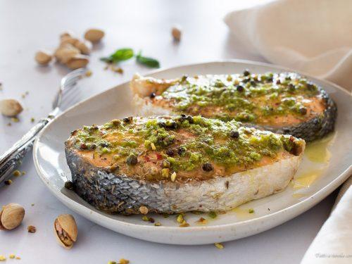 Trancio di salmone in padella