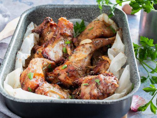 Coniglio marinato al forno