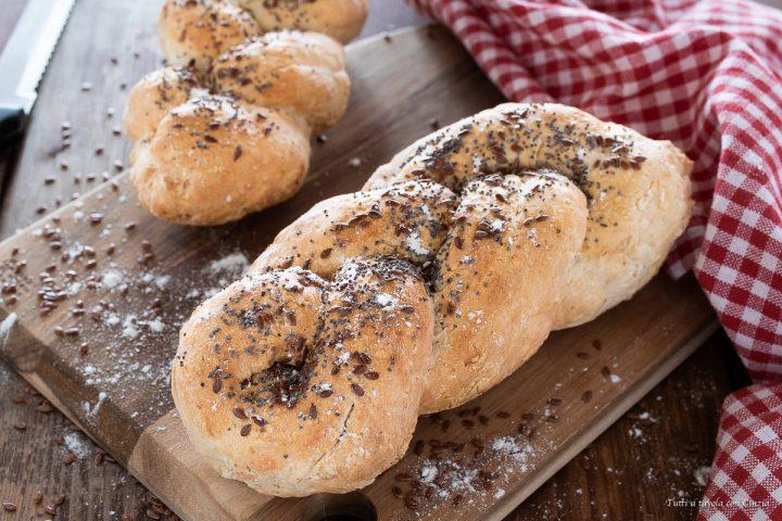 Treccia di pane senza lievitazione-2
