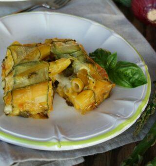 Timballo di pasta e zucchine