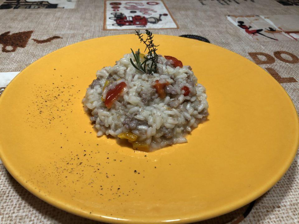 risotto salsiccia e peperoni