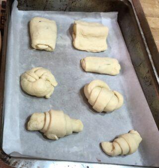 croissant fatti a mano