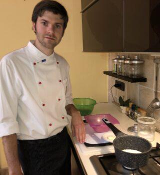 preparazione crema parmigiano