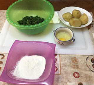 ingredienti per gli gnocchi all ortica