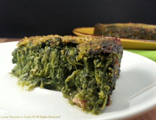 Tortino di spinaci e prosciutto cotto