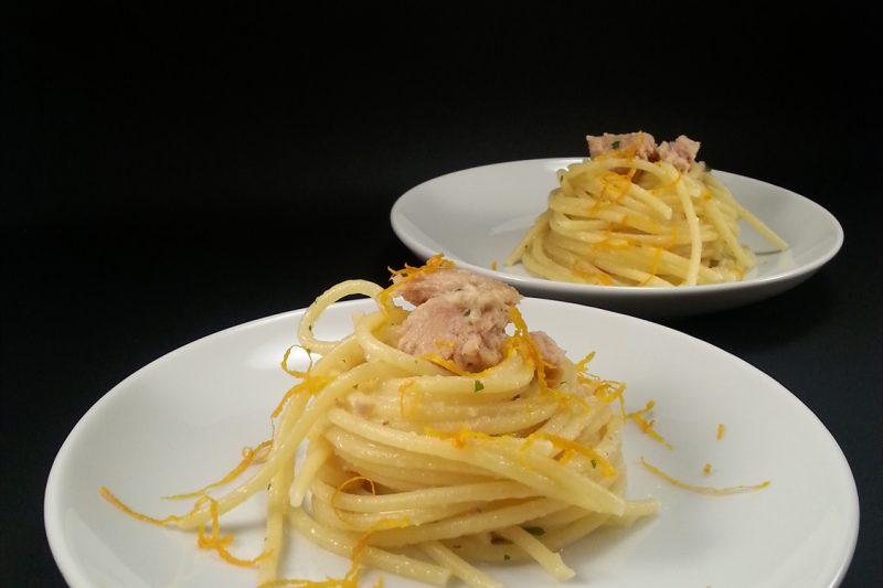 Spaghetti al tonno e arancia