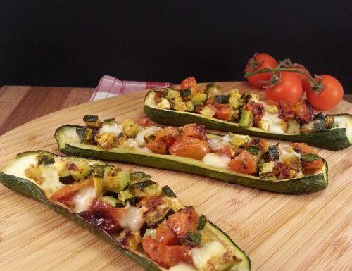 Zucchine ripiene vegetariane, al forno