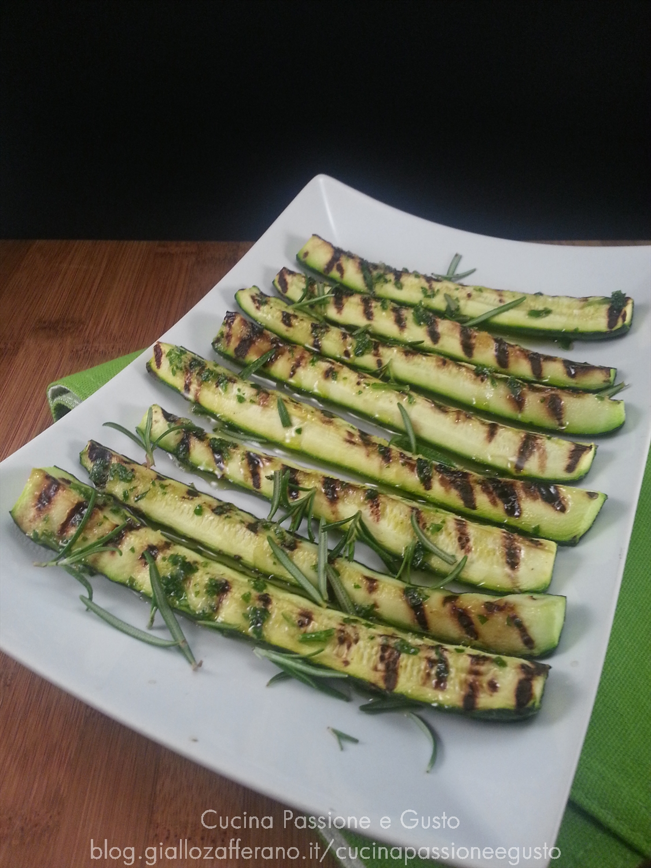 Zucchine grigliate al rosmarino