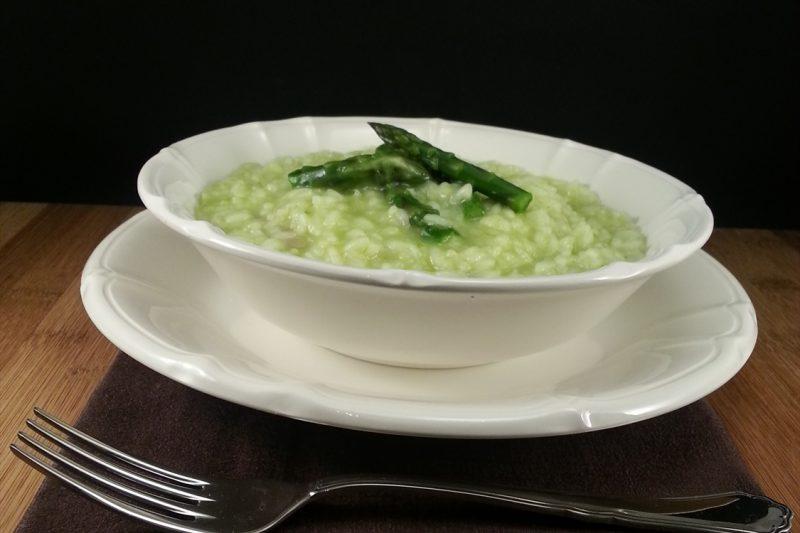 Risotto in crema di asparagi e taleggio