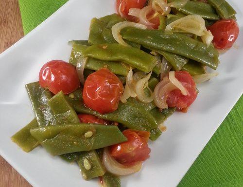 Fagiolini Piattoni al pomodoro fresco