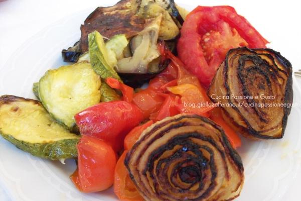 Verdure grigliate al forno