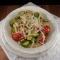 Pasta con zucchine, pomodorini e scaglie di pecorino sardo