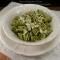 Pasta al pesto di fave, pancetta e pecorino