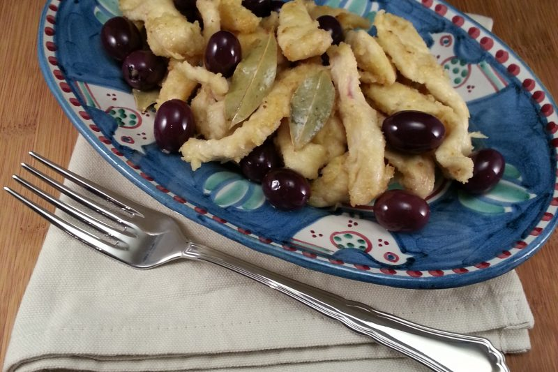 Pollo con olive e alloro