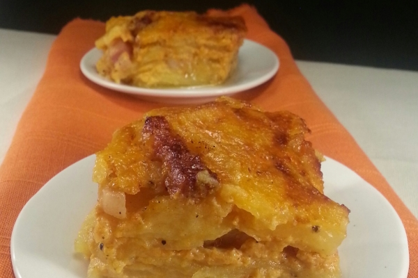 Tortino di Patate alla Carbonara