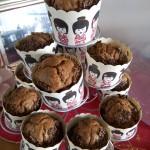 Muffins al grano cotto e cioccolato