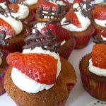 Cupcakes panna e fragola