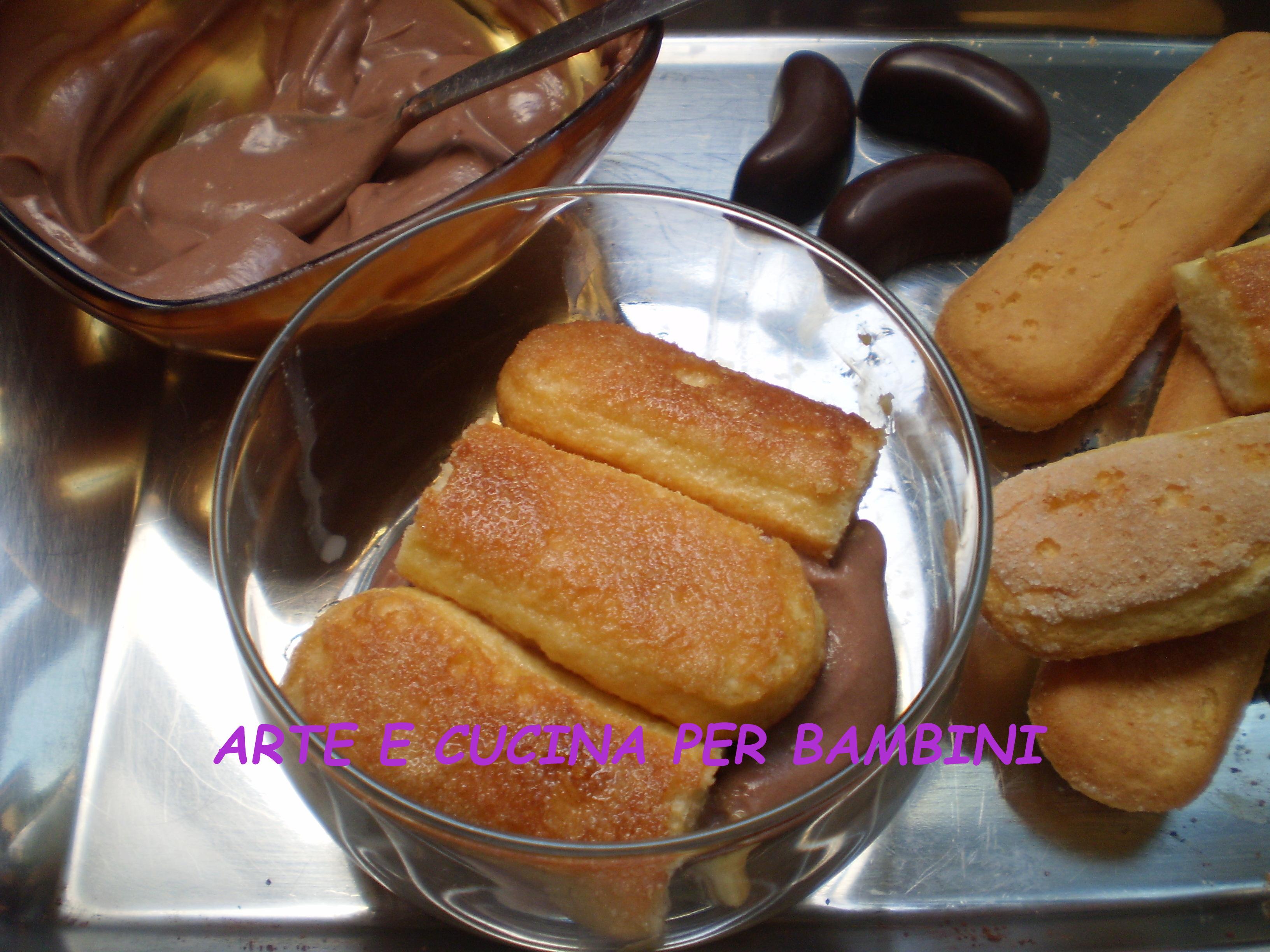 Tiramisu alla nutella arte e cucina per bambini for Cucina per bambini