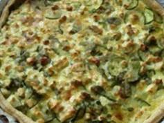 Torta salata alle zucchine e squacquerone