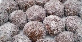 Palline di cioccolato ricoperte al cocco