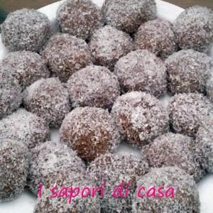 141 300x300 Palline di cioccolato ricoperte al cocco