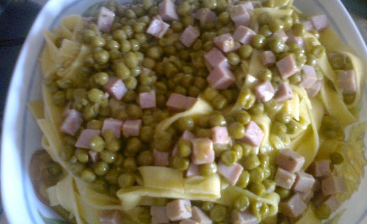 lasagnette con prosciutto e piselli