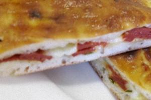 Focaccia fichi crudo e gorgonzola