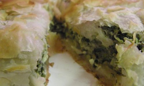 Spanakopita torta salata greca