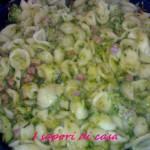 Orecchiette con pancetta zucchine e pecorino romano