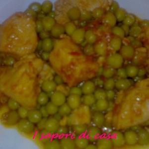 Spezzatino con piselli e polenta - secondo piatto facile