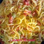 Bigoli con sugo piccante alle olive verdi