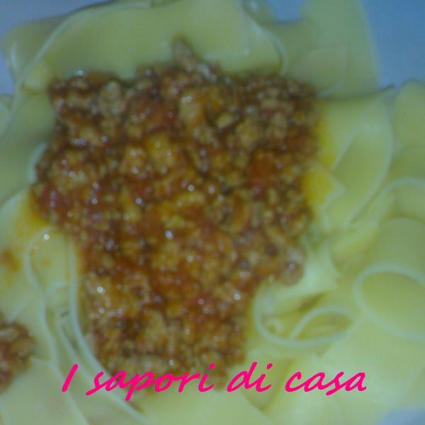 Lasagnette fatte in casa al ragu leggero