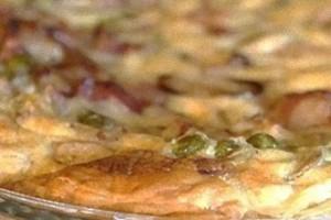 Frittata al forno con funghi e pancetta